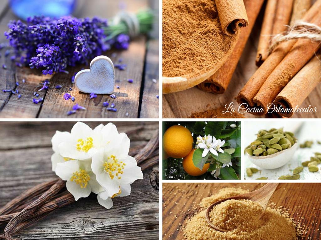 Azúcar aromatizada con especias y flores