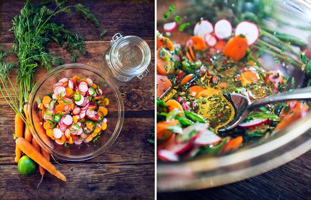 Encurtidos vegetales no fermentados